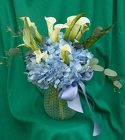 Callas in a Cloud - Blue from Mischler's Florist and Greenhouses in Williamsville, NY