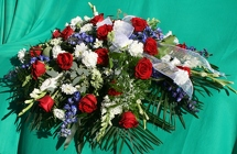 Patriotic Casket Spray from Mischler's Florist and Greenhouses in Williamsville, NY