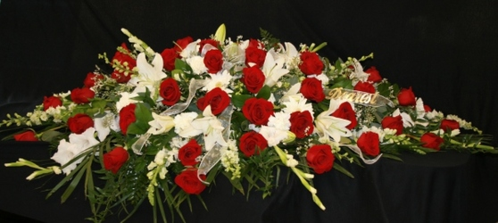 Casket Spray Roses from Mischler's Florist and Greenhouses in Williamsville, NY
