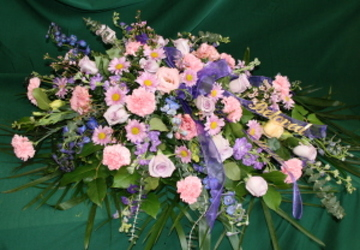 Casket Spray from Mischler's Florist and Greenhouses in Williamsville, NY