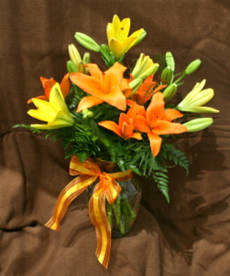 Assorted Lily Vase