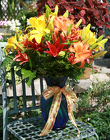 Fall Lily Vase from Mischler's Florist and Greenhouses in Williamsville, NY