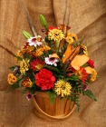Fall Arrangement from Mischler's Florist and Greenhouses in Williamsville, NY