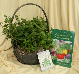 Herb Basket with Cook Book and Seeds from Mischler's Florist and Greenhouses in Williamsville, NY