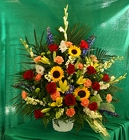 Fanshaped Bright Mix from Mischler's Florist and Greenhouses in Williamsville, NY