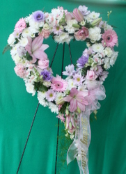 Sympathy Open Heart Pastel from Mischler's Florist and Greenhouses in Williamsville, NY