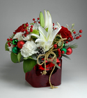 Christmas Cube from Mischler's Florist and Greenhouses in Williamsville, NY