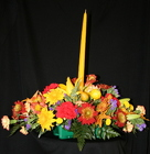 Thanksgiving 1 Candle Centerpiece from Mischler's Florist and Greenhouses in Williamsville, NY