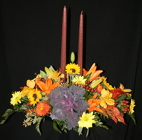 Thanksgiving 2 Candle Centerpiece from Mischler's Florist and Greenhouses in Williamsville, NY