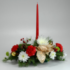 1 Candle Centerpiece from Mischler's Florist and Greenhouses in Williamsville, NY