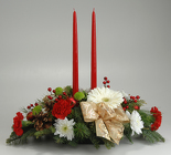 2 Candle Centerpiece from Mischler's Florist and Greenhouses in Williamsville, NY