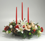 3 Candle Centerpiece from Mischler's Florist and Greenhouses in Williamsville, NY